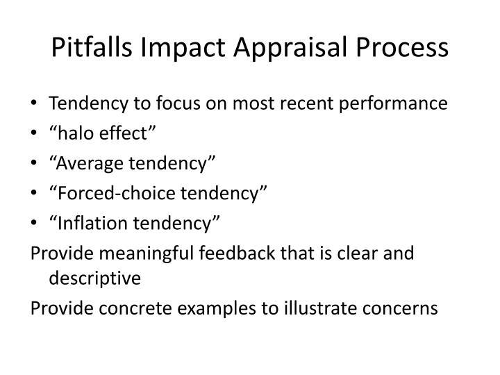 Pitfalls Impact Appraisal Process