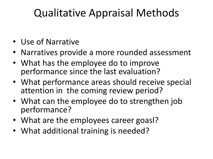 Qualitative Appraisal Methods