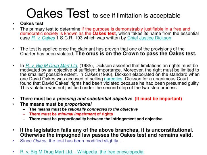 Oakes Test