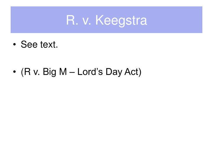 R. v. Keegstra