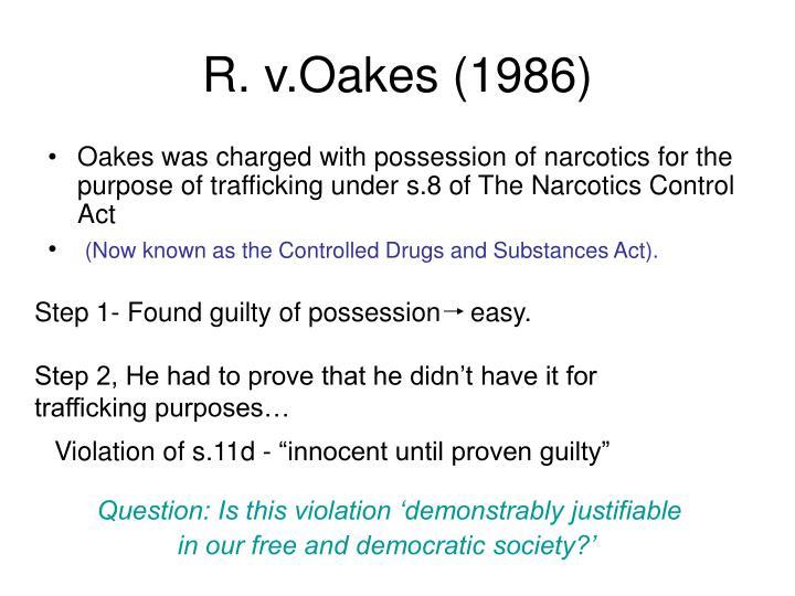 R. v.Oakes (1986)