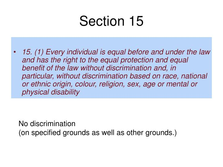 Section 15