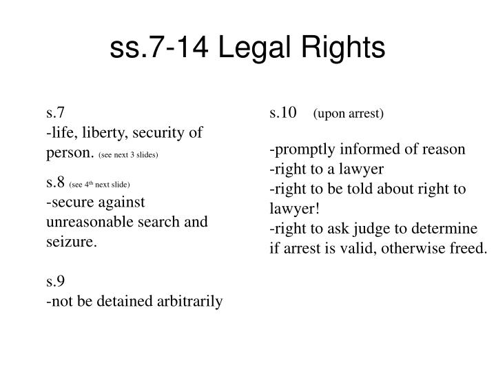 ss.7-14 Legal Rights