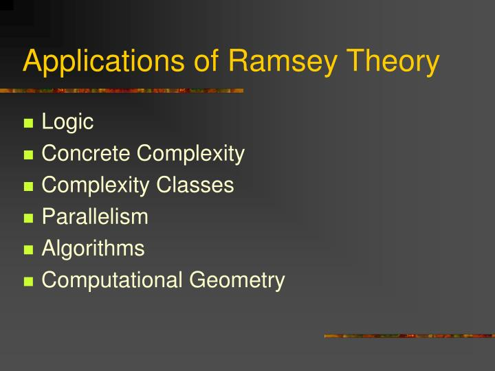 Applications of Ramsey Theory