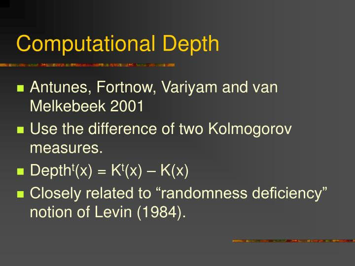 Computational Depth
