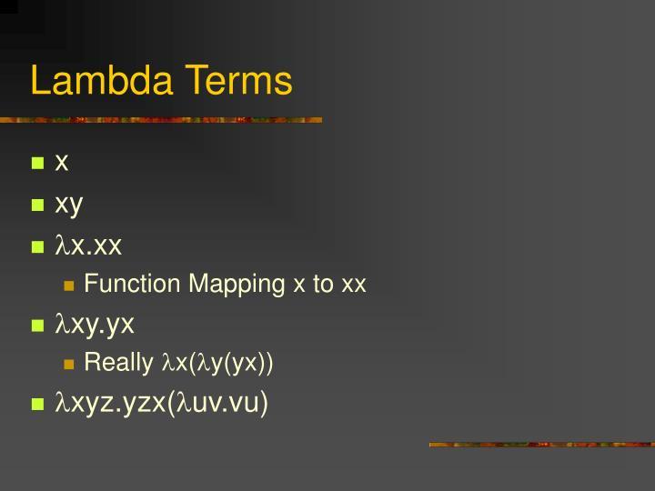 Lambda Terms