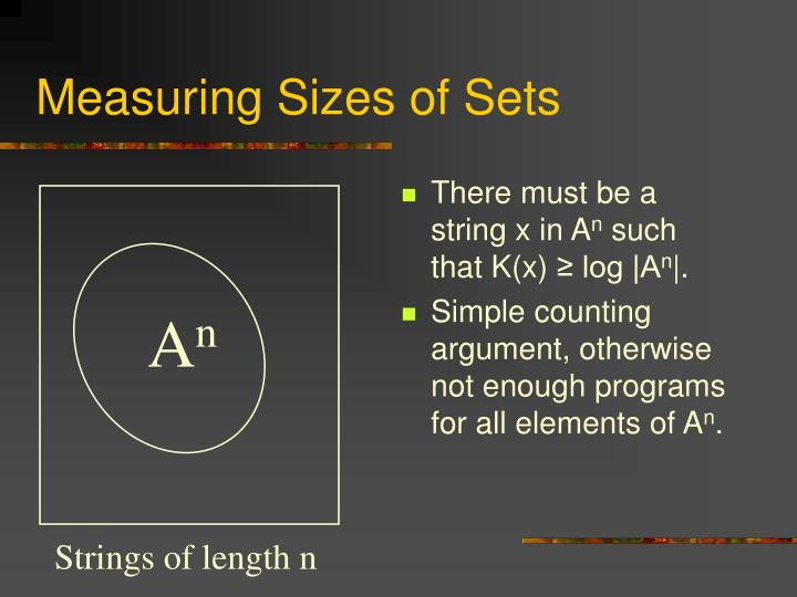 Measuring Sizes of Sets