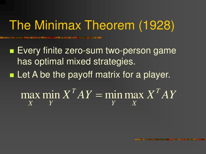 The Minimax Theorem (1928)