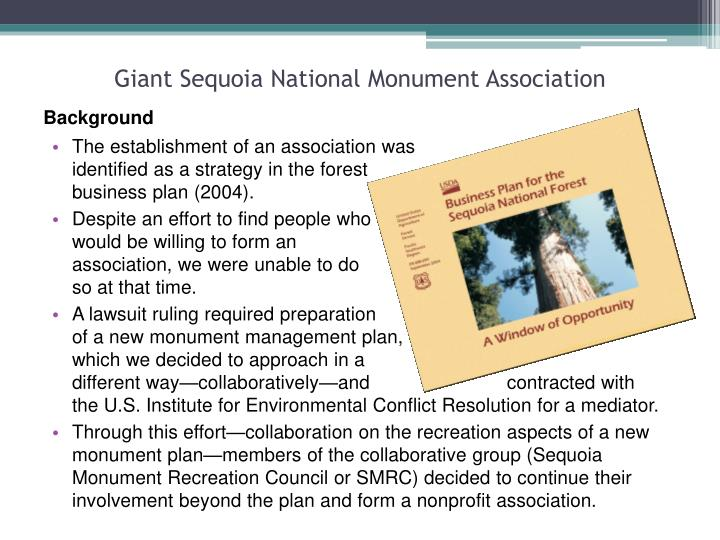 Giant Sequoia National Monument Association