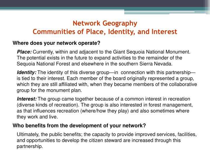 Network Geography