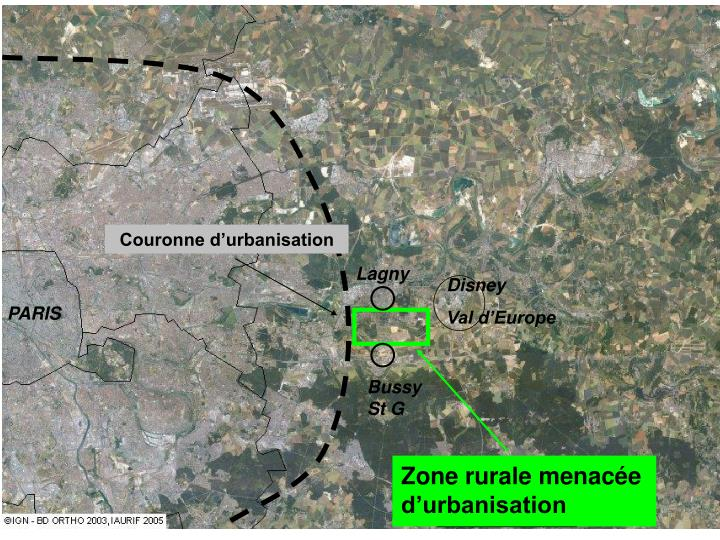 Couronne d'urbanisation