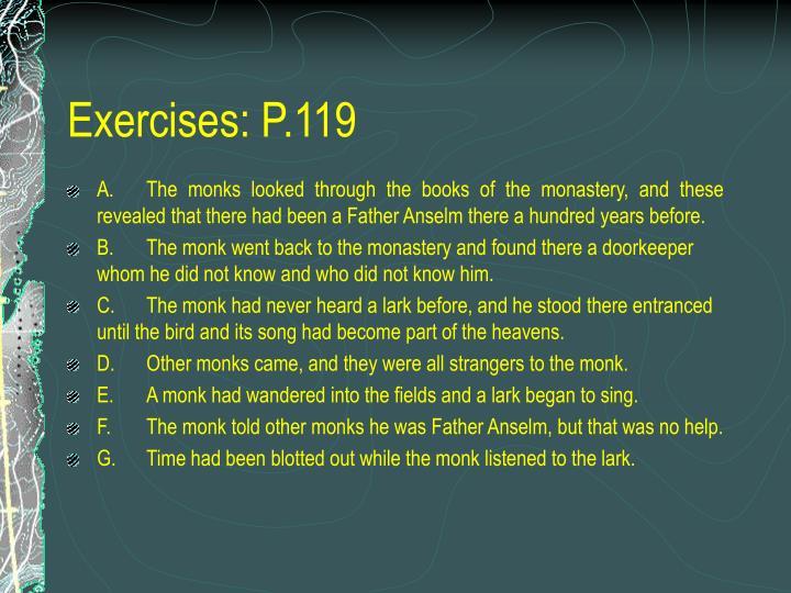 Exercises: P.119