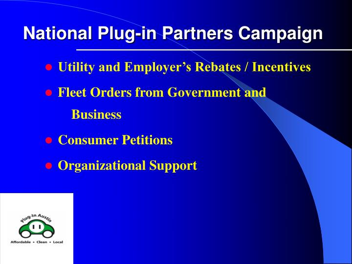 National Plug-in Partners Campaign