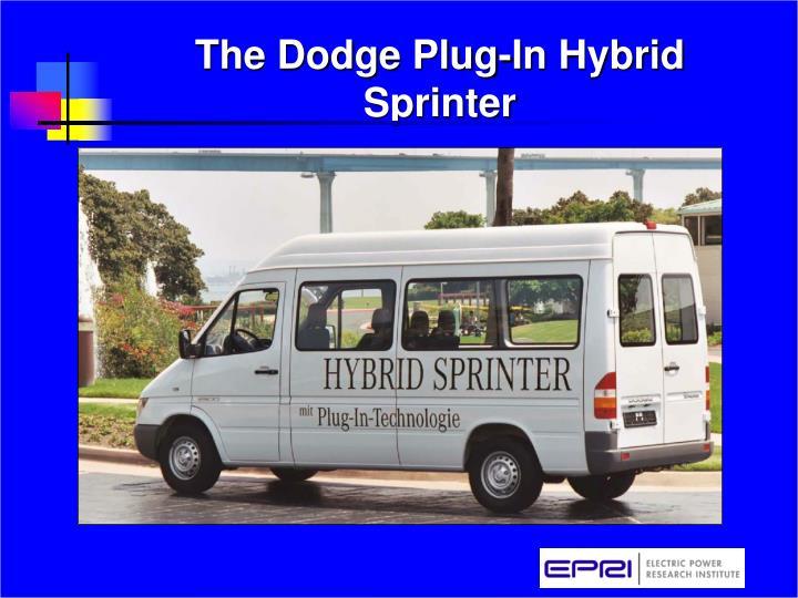 The Dodge Plug-In Hybrid Sprinter