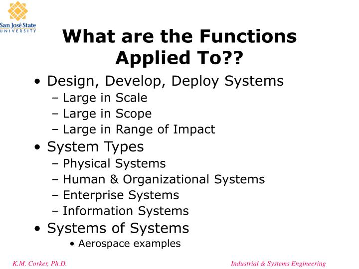 What are the Functions Applied To??