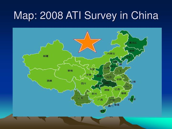 Map 2008 ati survey in china