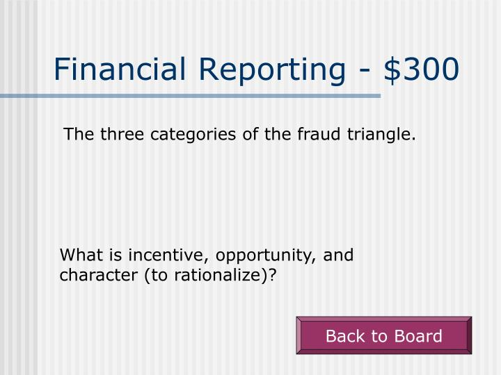 Financial Reporting - $300