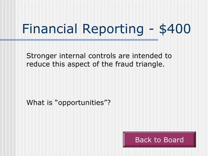 Financial Reporting - $400
