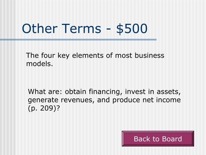 Other Terms - $500
