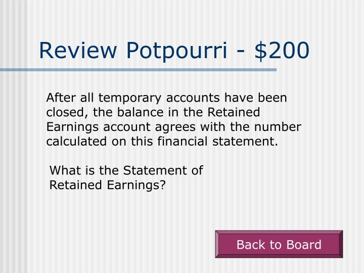 Review Potpourri - $200