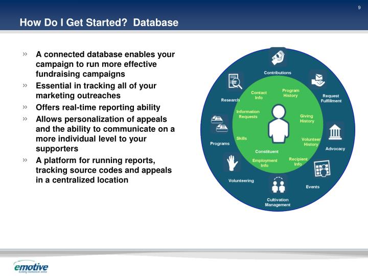 How Do I Get Started?  Database