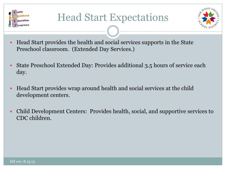 Head Start Expectations