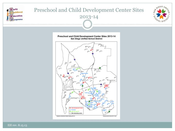 Preschool and Child Development Center Sites