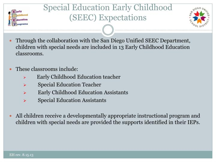 Special Education Early Childhood
