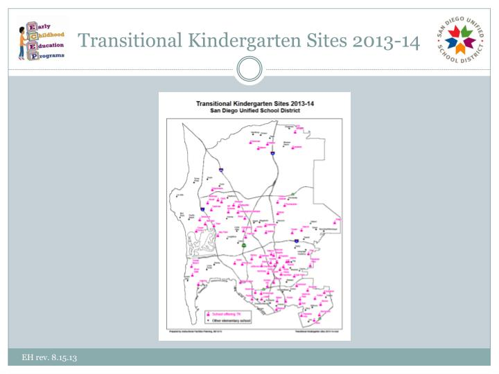 Transitional Kindergarten Sites 2013-14