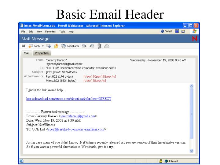 Basic Email Header
