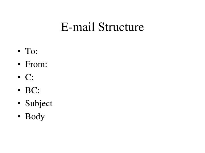 E-mail Structure