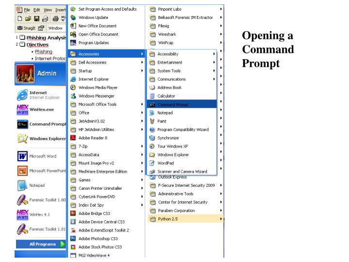 Opening a Command Prompt