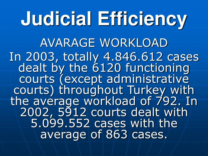Judicial Efficiency