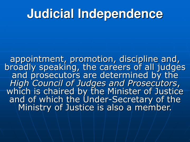 Judicial I