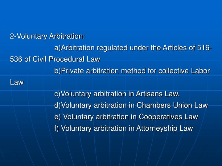 2-Voluntary Arbitration: