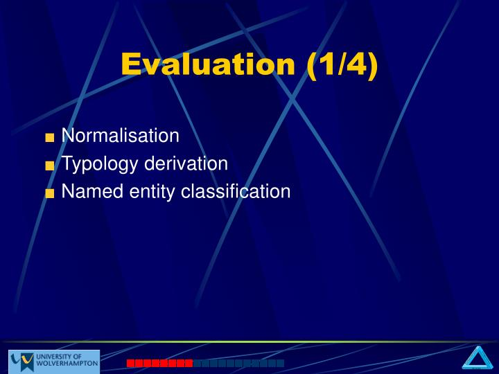 Evaluation (1/4)