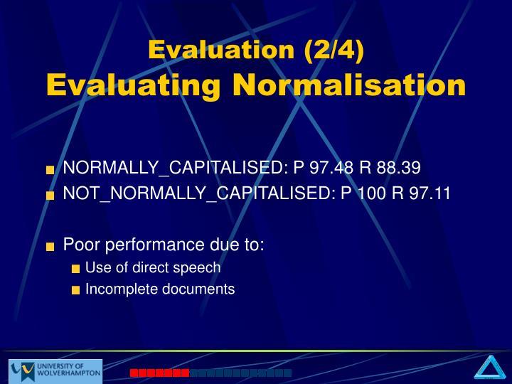 Evaluation (2/4)