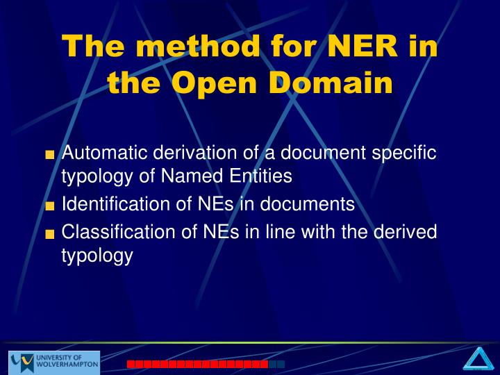 The method for ner in the open domain