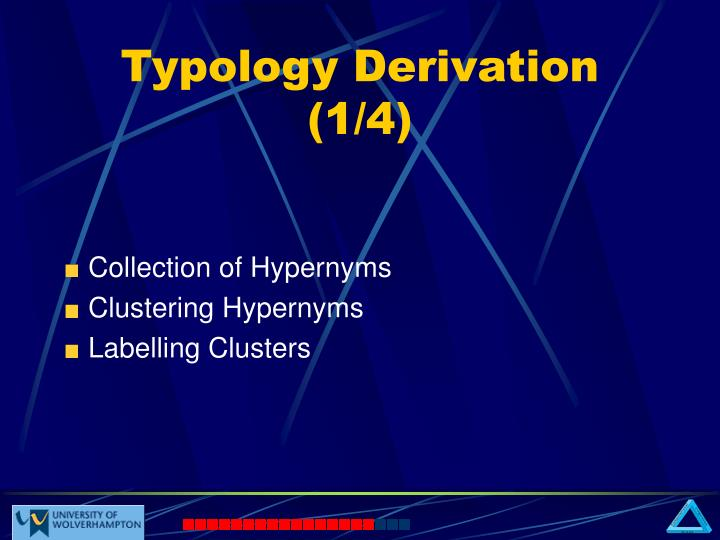 Typology Derivation (1/4)