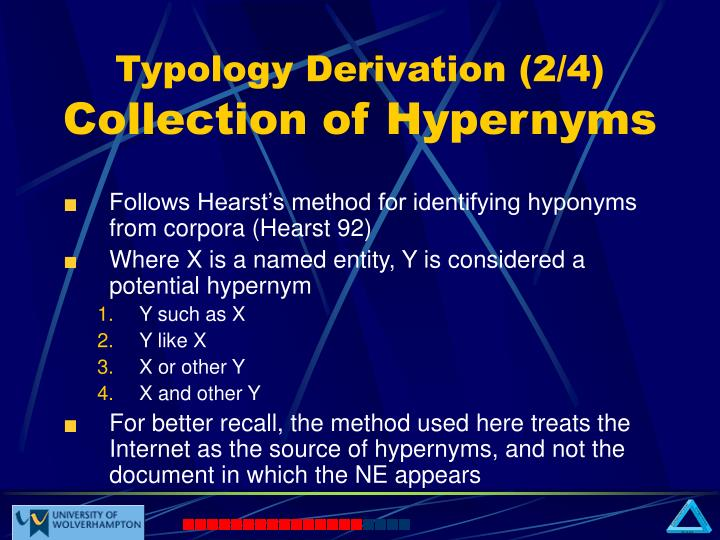 Typology Derivation (2/4)