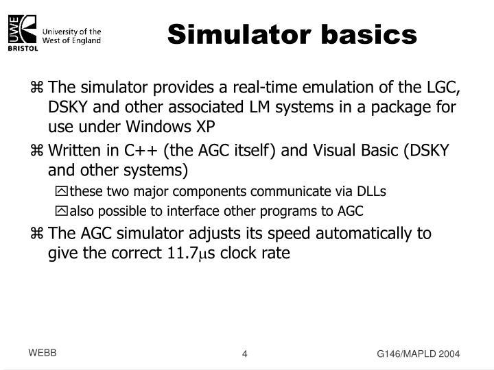 Simulator basics