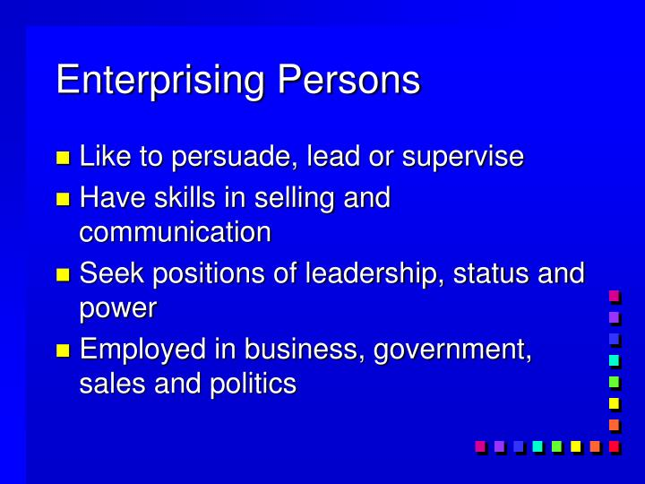 Enterprising Persons