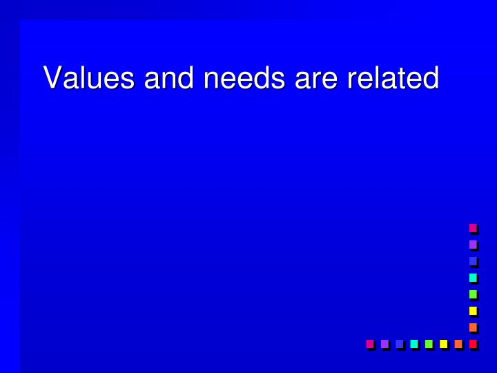 Values and needs are related