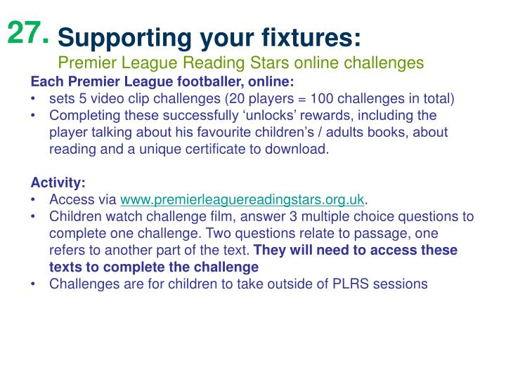 Supporting your fixtures:
