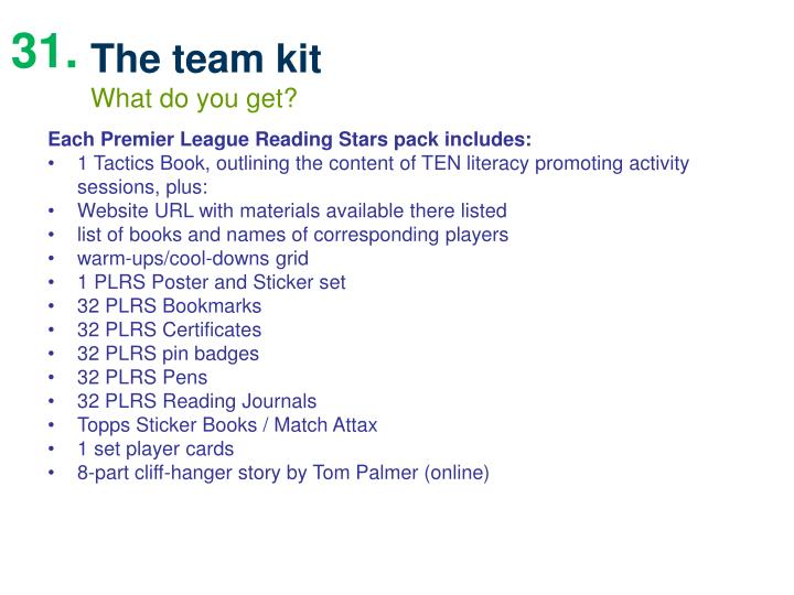 The team kit