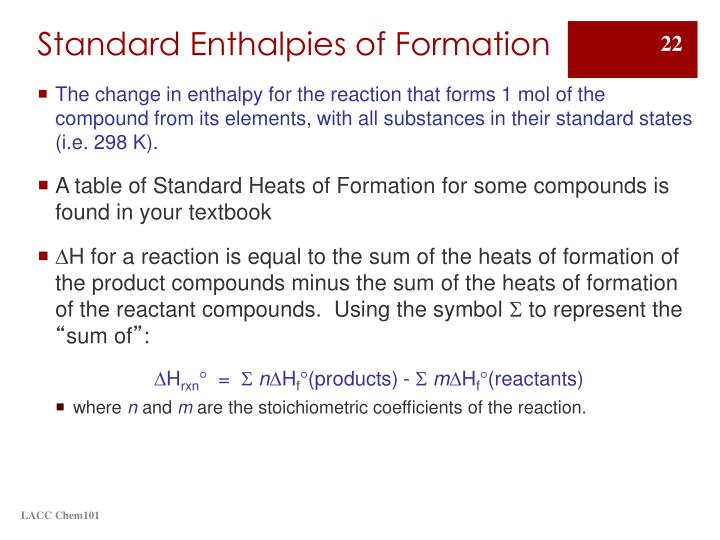 PPT - Enthalpy: An introduction to Chemical Thermodynamics ...