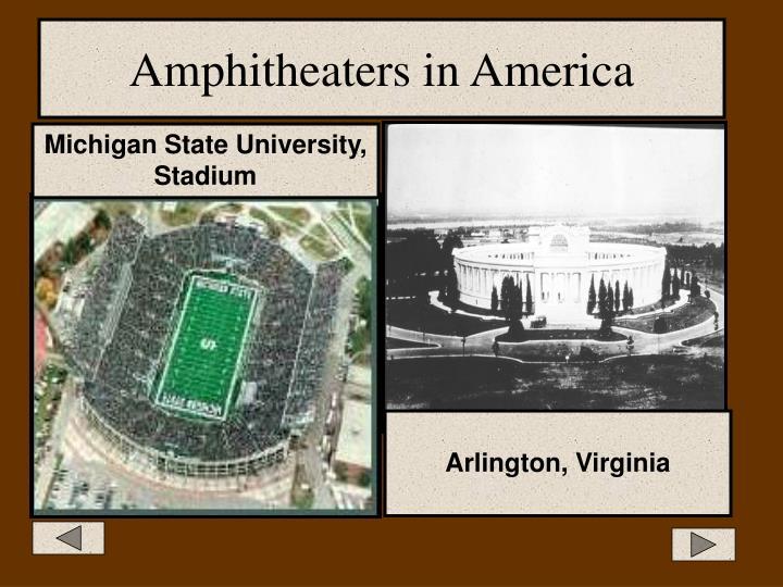 Amphitheaters in America