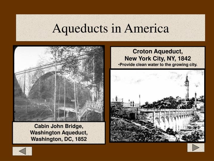 Aqueducts in America