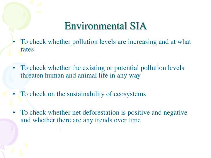 Environmental SIA