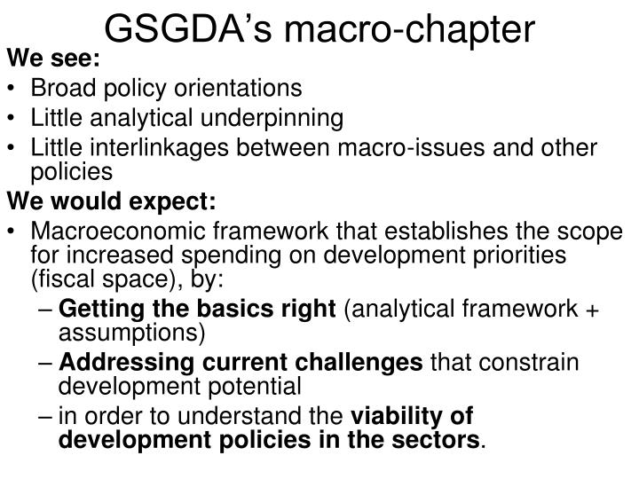 GSGDA's macro-chapter